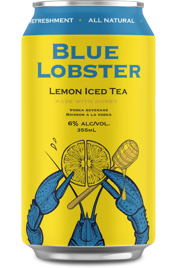 Blue Lobster Lemon Iced Tea Vodka Drink